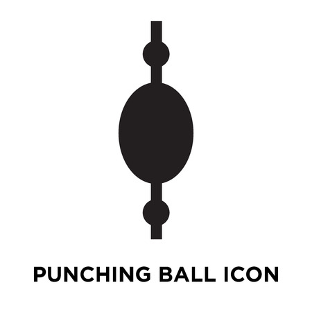 Punching ball icon vector isolated on white background, logo concept of Punching ball sign on transparent background, filled black symbol