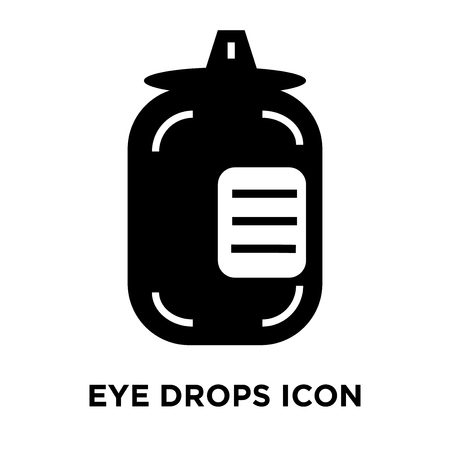 Eye drops icon vector isolated on white background, logo concept of Eye drops sign on transparent background, filled black symbol