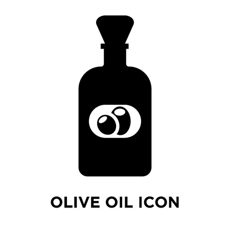 Olive oil icon vector isolated on white background, logo concept of Olive oil sign on transparent background, filled black symbol 일러스트