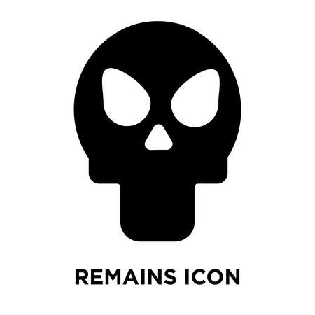 Reste icône vecteur isolé sur fond blanc, notion de logo de reste signe sur fond transparent, rempli de symbole en noir