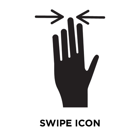 Swipe icon vector isolated on white background, logo concept of Swipe sign on transparent background, filled black symbol