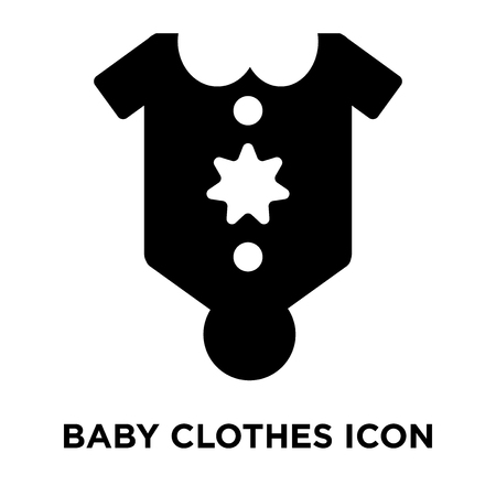 Baby Clothes icon vector isolated on white background, logo concept of Baby Clothes sign on transparent background, filled black symbol Imagens - 107944182