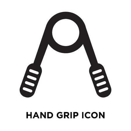 Hand grip icon vector isolated on white background, logo concept of Hand grip sign on transparent background, filled black symbol Ilustração