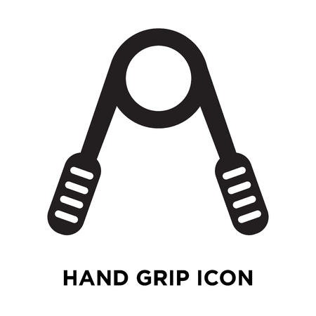 Hand grip icon vector isolated on white background, logo concept of Hand grip sign on transparent background, filled black symbol Illustration
