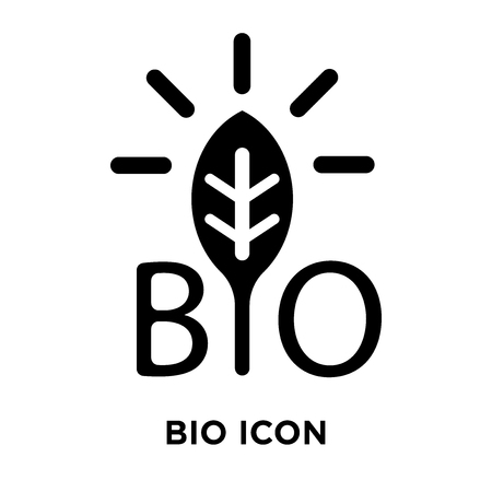 Bio icon vector isolated on white background, logo concept of Bio sign on transparent background, filled black symbol