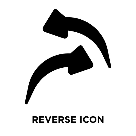 Reverse icon vector isolated on white background, logo concept of Reverse sign on transparent background, filled black symbol Vettoriali