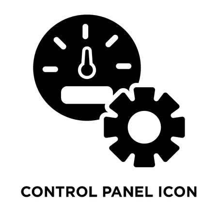Control panel icon vector isolated on white background, logo concept of Control panel sign on transparent background, filled black symbol