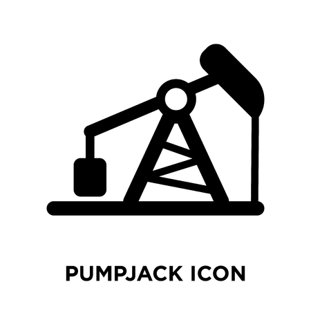 Pumpjack icon vector isolated on white background, logo concept of Pumpjack sign on transparent background, filled black symbol Illustration