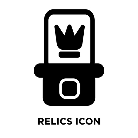 Relics icon vector isolated on white background, logo concept of Relics sign on transparent background, filled black symbol
