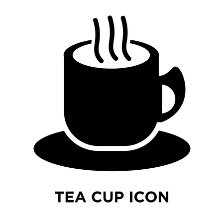 Tea cup icon vector isolated on white background, logo concept of Tea cup sign on transparent background, filled black symbol Standard-Bild - 107938885