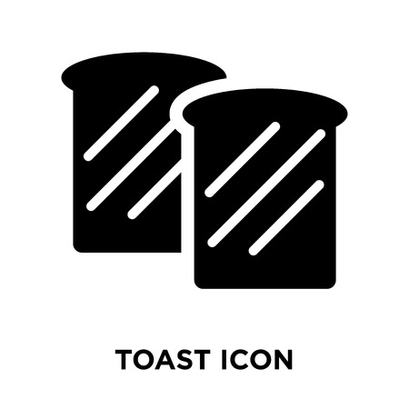 Toast icon vector isolated on white background, logo concept of Toast sign on transparent background, filled black symbol