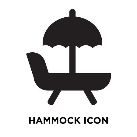 Hammock icon vector isolated on white background, logo concept of Hammock sign on transparent background, filled black symbol Illustration