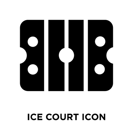 Ice court icon vector isolated on white background, logo concept of Ice court sign on transparent background, filled black symbol