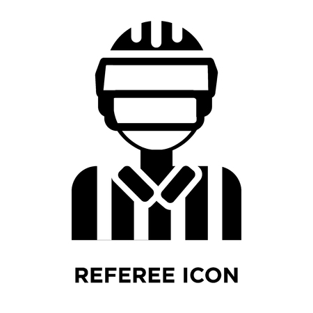 Referee icon vector isolated on white background, logo concept of Referee sign on transparent background, filled black symbol Foto de archivo - 107785139