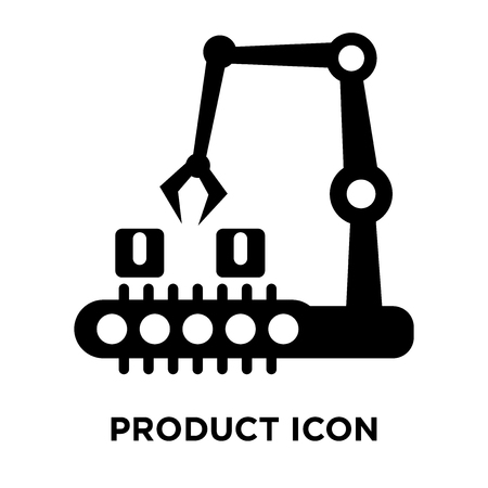 Product icon vector isolated on white background, logo concept of Product sign on transparent background, filled black symbol