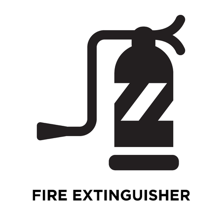 Fire extinguisher icon vector isolated on white background, logo concept of Fire extinguisher sign on transparent background, filled black symbol