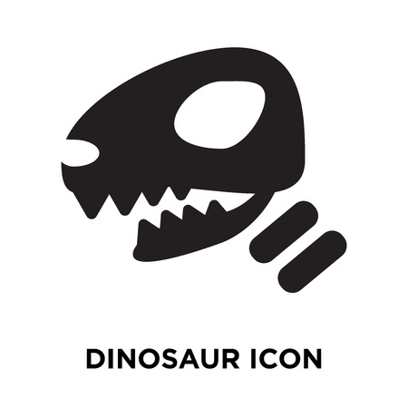 Dinosaur icon vector isolated on white background, logo concept of Dinosaur sign on transparent background, filled black symbol Vectores