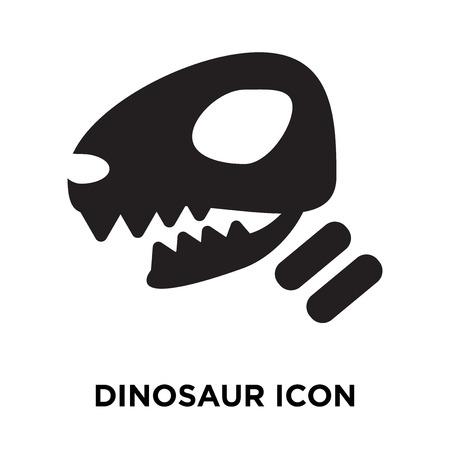 Dinosaur icon vector isolated on white background, logo concept of Dinosaur sign on transparent background, filled black symbol Illustration