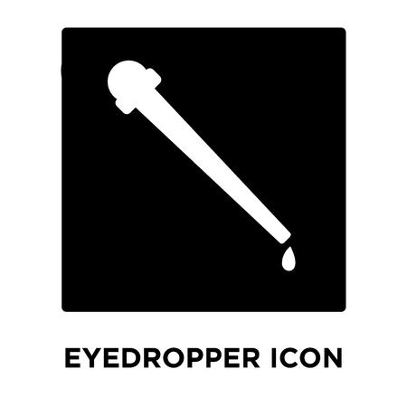 Eyedropper icon vector isolated on white background, logo concept of Eyedropper sign on transparent background, filled black symbol 向量圖像