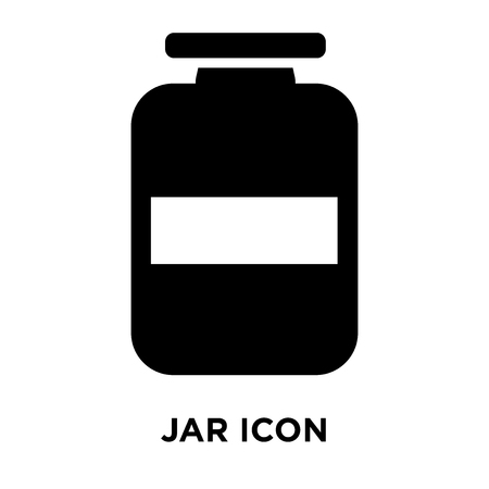 Jar icon vector isolated on white background, logo concept of Jar sign on transparent background, filled black symbol Standard-Bild - 107783604
