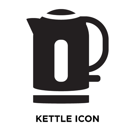 Kettle icon vector isolated on white background, logo concept of Kettle sign on transparent background, filled black symbol Illustration