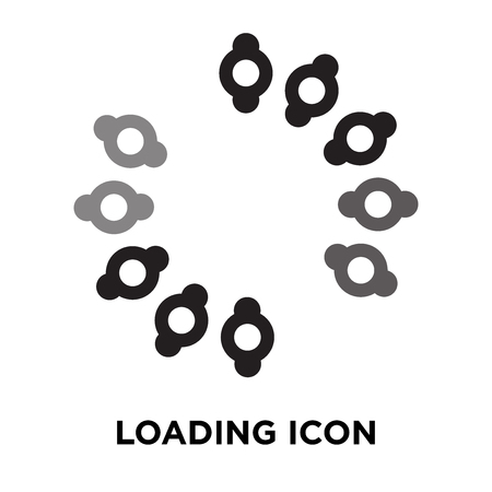Loading icon vector isolated on white background, logo concept of Loading sign on transparent background, filled black symbol