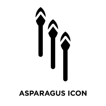 Asparagus icon vector isolated on white background, logo concept of Asparagus sign on transparent background, filled black symbol Vectores