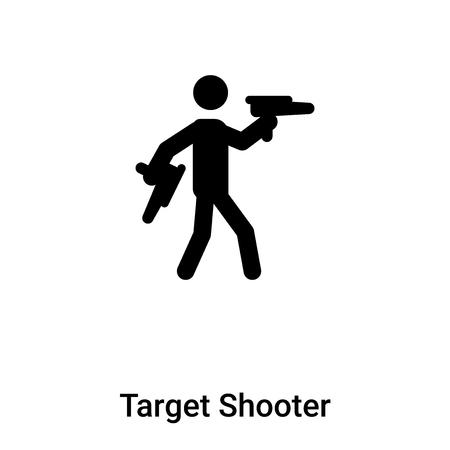 Vecteur d'icône de tireur cible isolé sur fond blanc, notion de tireur cible signe sur fond transparent, rempli de symbole en noir