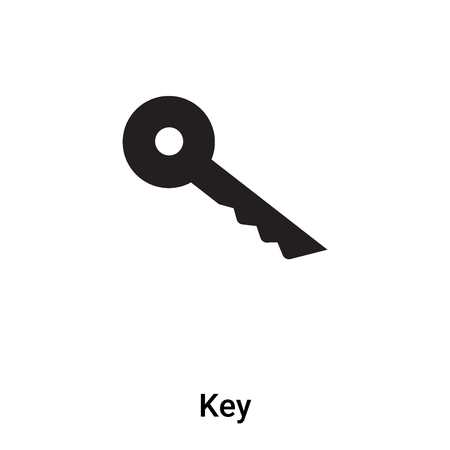 Key icon vector isolated on white background, concept of Key sign on transparent background, filled black symbol Illustration