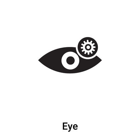 Eye icon vector isolated on white background, concept of Eye sign on transparent background, filled black symbol