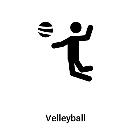 Velleyball icon vector isolated on white background, logo concept of Velleyball sign on transparent background, filled black symbol Stock Illustratie