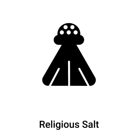 Religious Salt icon vector isolated on white background, concept of Religious Salt sign on transparent background, filled black symbol 版權商用圖片 - 108636433
