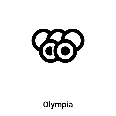 Olympia icon vector isolated on white background,  filled black symbol