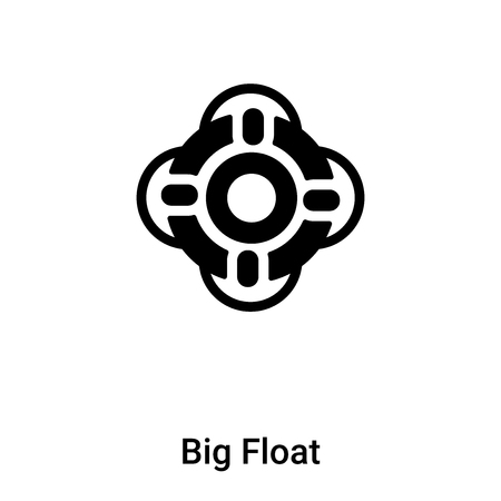 Big Float icon vector isolated on white background, filled black symbol
