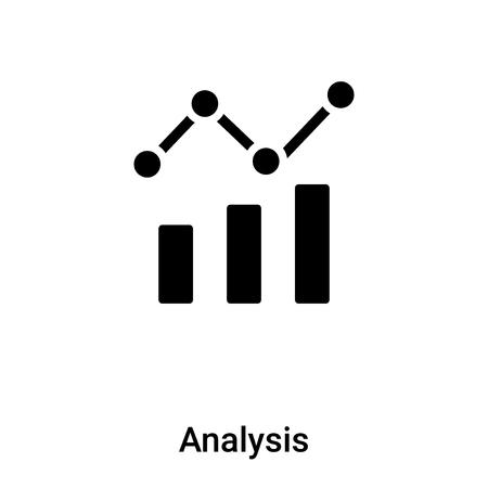 Analisi icona vettore isolato su sfondo bianco riempito simbolo nero