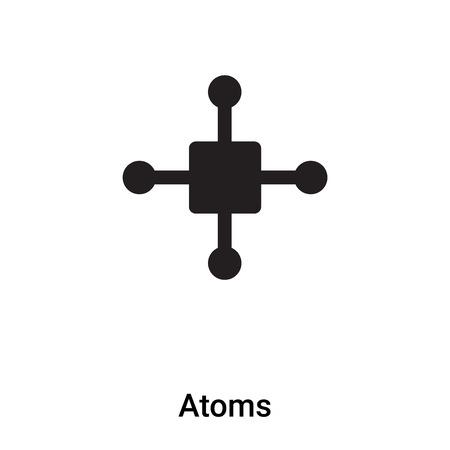 Atoms icon vector isolated on white background, filled black symbol Illusztráció