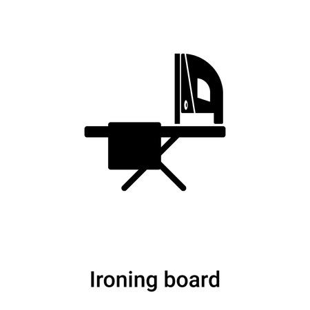 Ironing board icon vector isolated on white background, concept of Ironing board sign on transparent background, filled black symbol