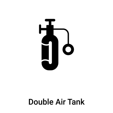 Double Air Tank icon vector isolated on white background filled black symbol