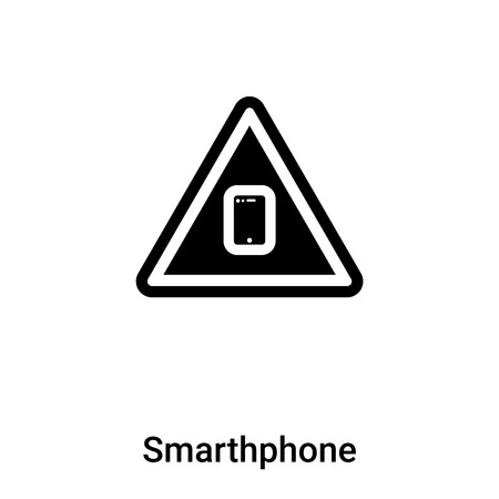 Smarthphone icon vector isolated on white background, logo concept of Smarthphone sign on transparent background, filled black symbol Illustration