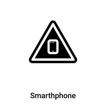 Vector icono de teléfono inteligente aislado sobre fondo blanco, el concepto de logo de teléfono inteligente muestra sobre fondo transparente, símbolo negro lleno