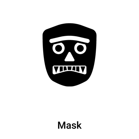 Mask icon vector isolated on white background. black and white symbol