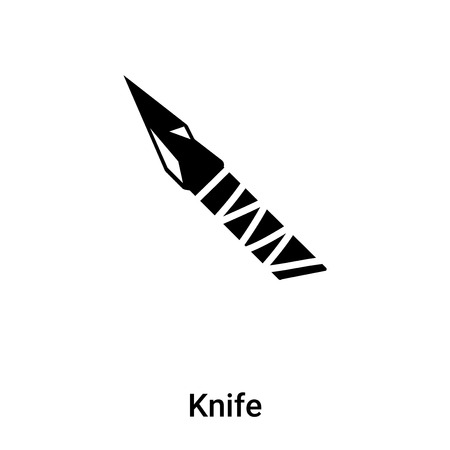 Knife icon vector isolated on white background. black and white symbol Stock Illustratie