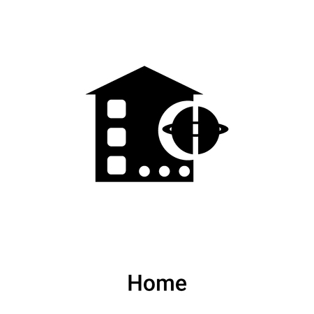 Home icon vector isolated on white background, concept of Home sign on transparent background, filled black symbol