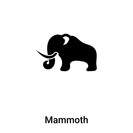 Mammoth icon vector isolated on white background, concept of Mammoth sign on transparent background, filled black symbol Vectores