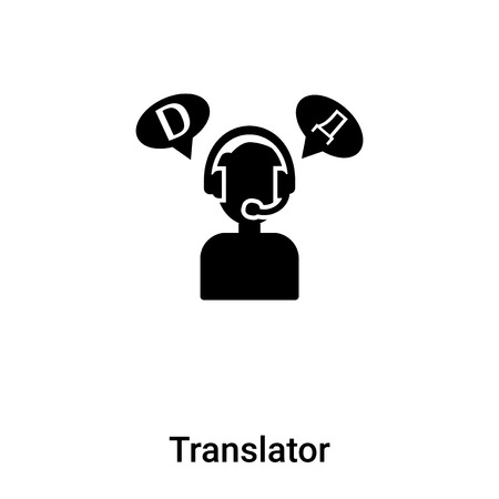 Translator icon  vector isolated on white background, concept of Translator  sign on transparent background, filled black symbol