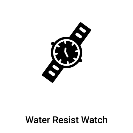 Water Resist Watch icon vector isolated on white background, concept of Water Resist Watch sign on transparent background, filled black symbol Ilustrace