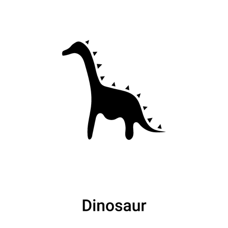 Dinosaur icon vector isolated on white background, concept of Dinosaur sign on transparent background, filled black symbol Vectores