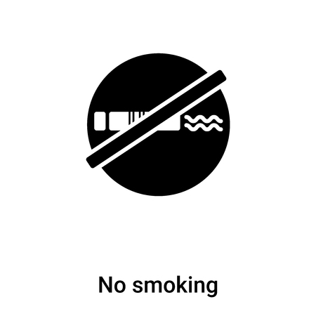No smoking icon vector isolated on white background, concept of No smoking sign on transparent background, filled black symbol