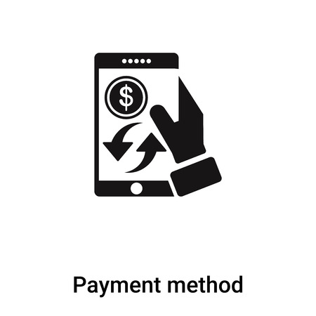 Payment method icon vector isolated on white background, concept of Payment method sign on transparent background, filled black symbol
