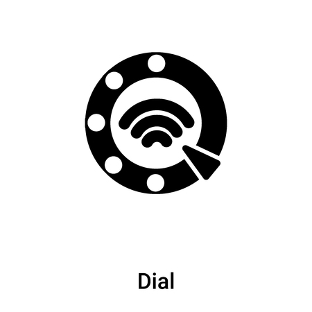 Dial icon vector isolated on white background, concept of Dial sign on transparent background, filled black symbol